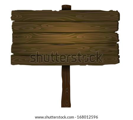 vector wooden sign - stock vector