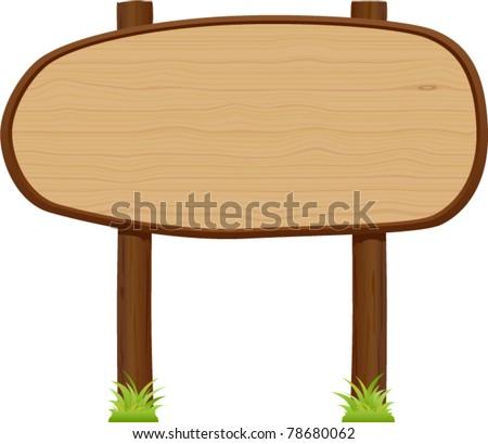 vector wooden signboard 1 - stock vector