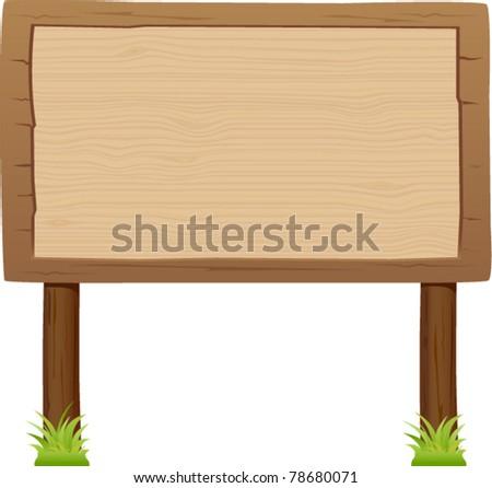 vector wooden signboard 3 - stock vector
