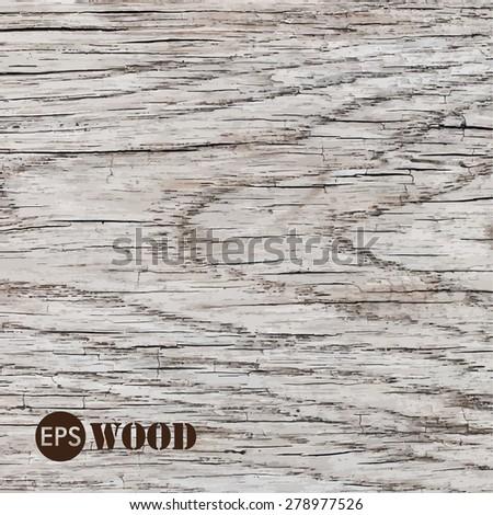 Vector wooden texture - stock vector