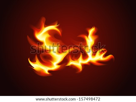 Vector word sale of the fire on a dark background