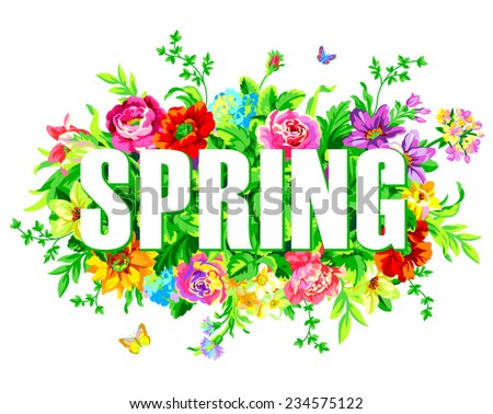 Spring lettering Stock Photos, Images, & Pictures ...