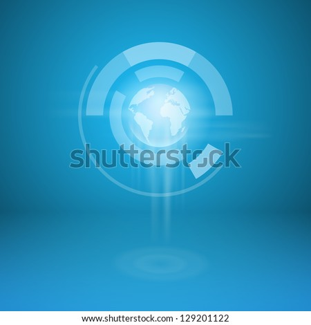 vector world business background - stock vector