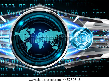 vector world future technology, security concept background, Dark blue silver cyber Light Abstract background for computer graphic website internet. circuit. illustration. infographics. motion move