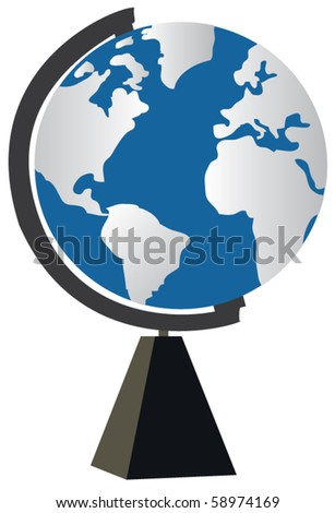 vector world globe - stock vector