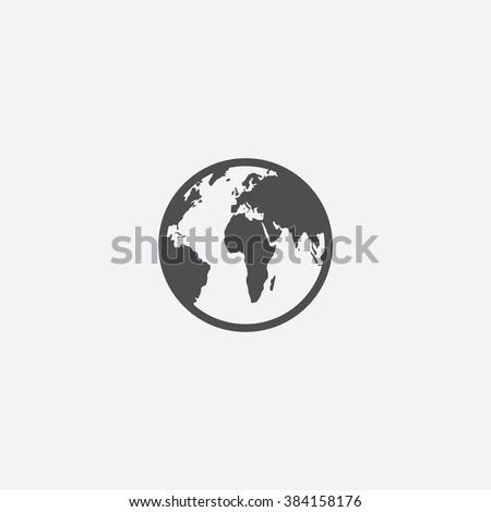 Vector world Icon - stock vector