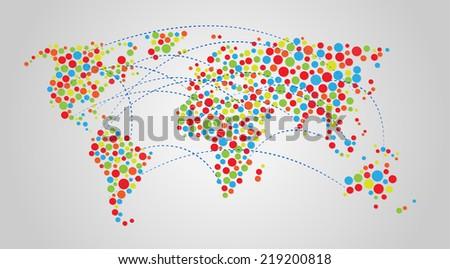 Vector world map background stock vector 219200818 shutterstock vector world map background gumiabroncs Images
