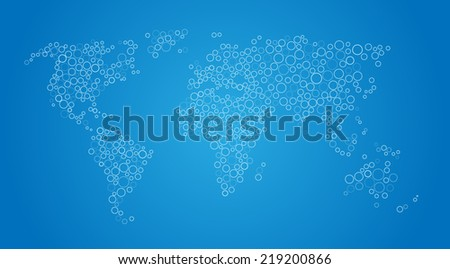 vector world map background
