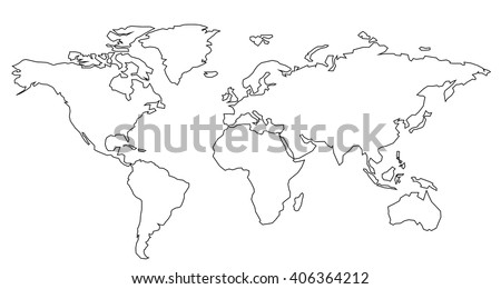 Vector world map contour stock vector 406364212 shutterstock vector world map contour gumiabroncs Images