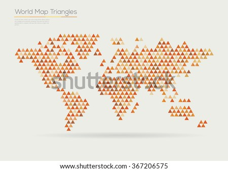 Vector world map design triangle pattern vectores en stock 367206575 vector world map design triangle pattern continents gumiabroncs Image collections
