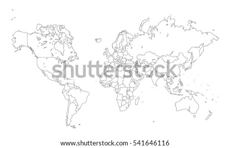 World map outline stock images royalty free images vectors vector world map with countries outline gumiabroncs Images