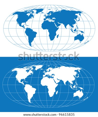 Vector world map grid separate layers stock vector 96615835 vector world map with grid separate layers gumiabroncs Image collections