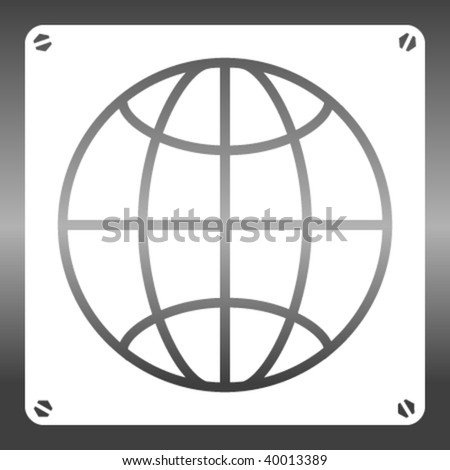 vector world stencil - stock vector