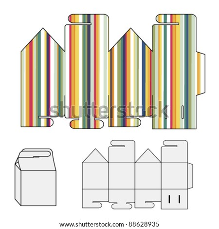Vector wrap puzzle template for box - stock vector