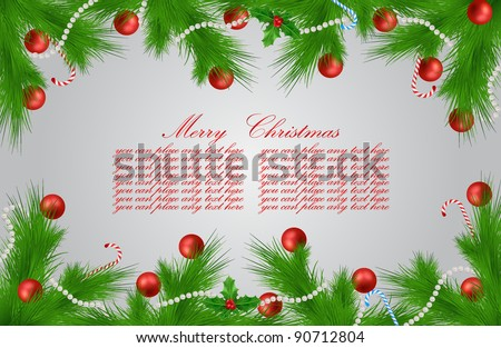 vector Xmas greeting card - stock vector