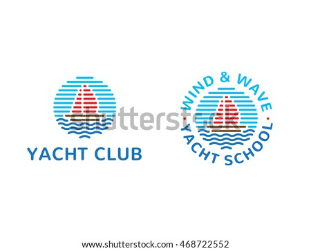 Vector yachting sports logo template design stock vector 468722552 vector yachting sports logo template design for yacht club or yacht school colorful boats circle toneelgroepblik Image collections