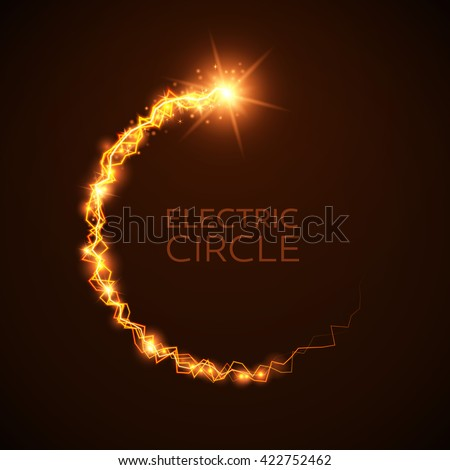 Vector Blue Yellow Electric Circles Magic Stock Vector ...