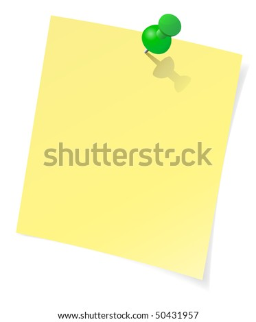 Vector yellow sticky note - stock vector