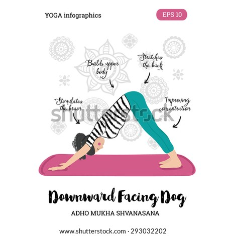Vector Yoga Illustration. Women Yoga. Yoga poster. Sketch With Yoga Asana. Healthy Lifestyle. - stock vector