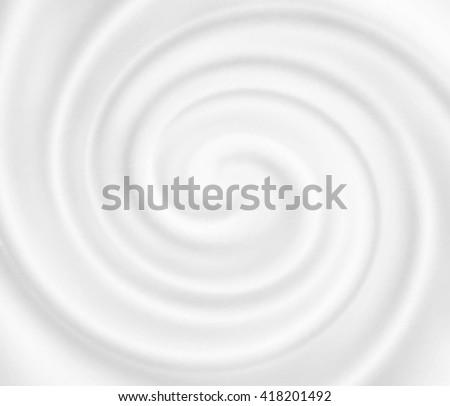 Vector yogurt swirl ice cream background. Snowy white mousse texture. White cheese cream. Tasty liquid texture of milky smooth product. Sweet food silky texture. Creamy dairy product. - stock vector