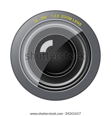 Vector zoom lens. Very easy to edit file - stock vector
