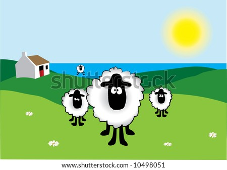 Vectored Sheep - stock vector
