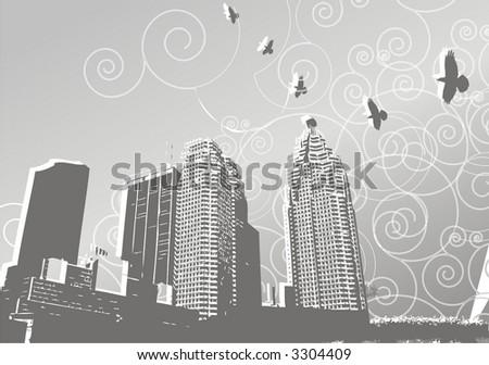 vectorial city art design - stock vector