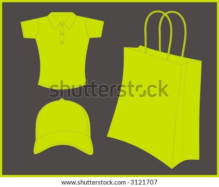 vectorial illustration of promotional material - stock vector