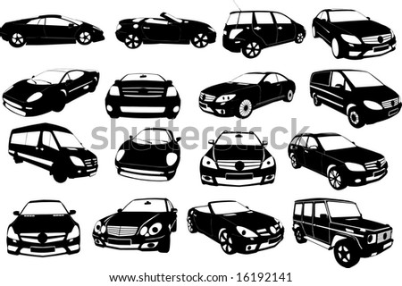 Vectorial image of cars.