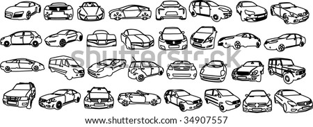 Vectorial image of cars. - stock vector