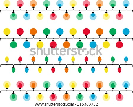 Vectorized colorful lights - stock vector