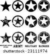 Vectors military stars - stock vector