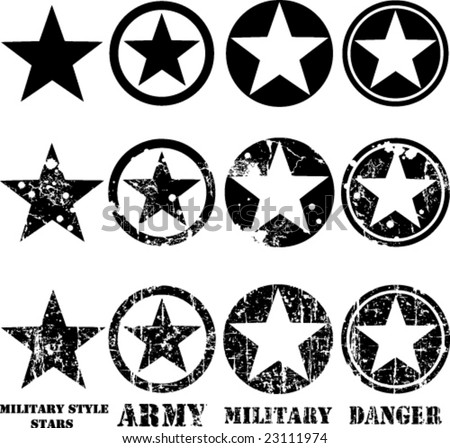Army Star Vector Vectors Military Stars Stock