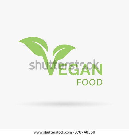 Vegan Icon Design Vegetarian Food Diet Stock Vector Hd Royalty Free