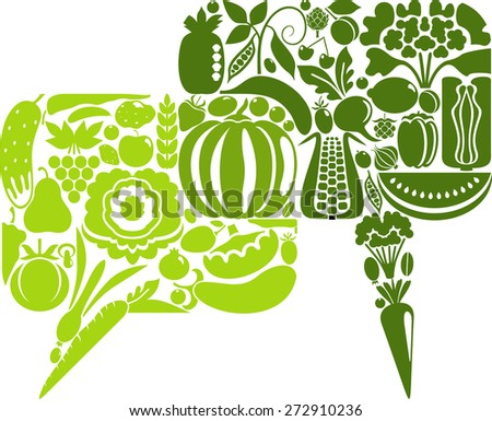 Vegetable chat - stock vector