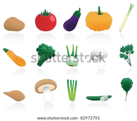 vegetable icons - stock vector