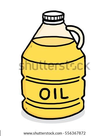 Close Bottle Vegetable Oil Stock Vector 263535776