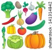 Vegetable theme collection 1 - eps10 vector illustration. - stock vector