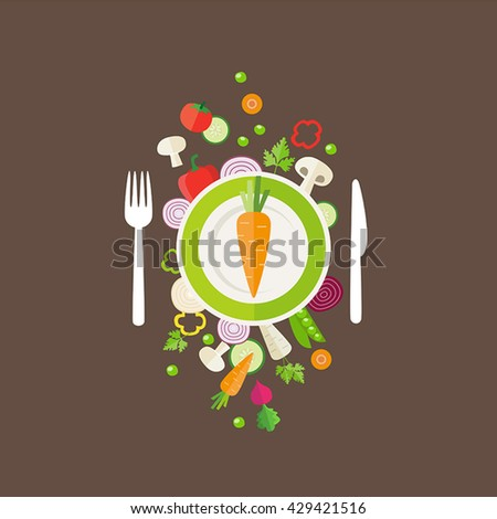 Vegetables background - can illustrate topics like healthy eating, vegetarian meals, vegan or raw diet.
