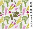 vegetables. seamless pattern - stock vector