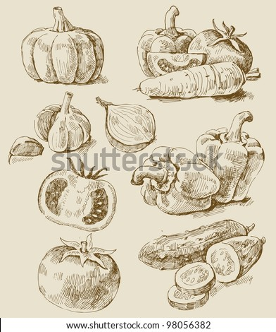 vegetables set - stock vector