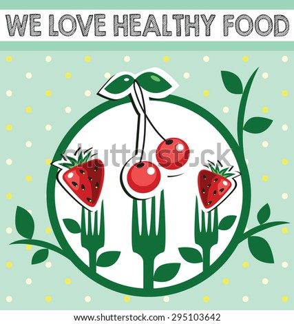 vegetarian food - stock vector