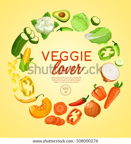 Veggie Lover Elements : Vector Illustration