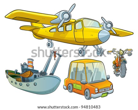 Vehicle Collection - stock vector