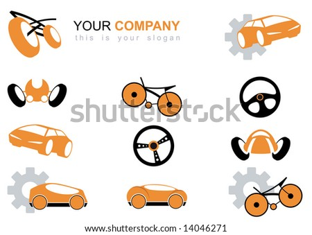 vehicle logo set - stock vector