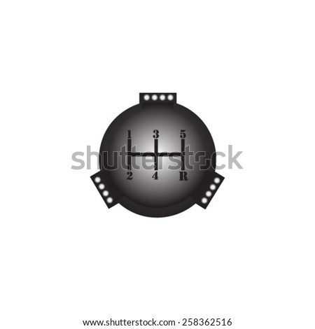 Vehicle's gear on white background. - stock vector