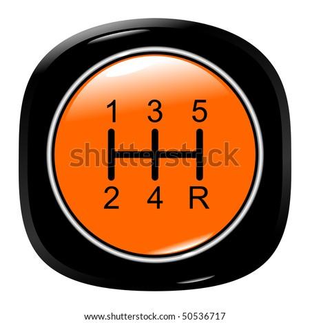 Vehicle's gear orange on white background eps10 - stock vector