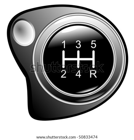 Vehicle's gear with camber under a finger eps10 - stock vector