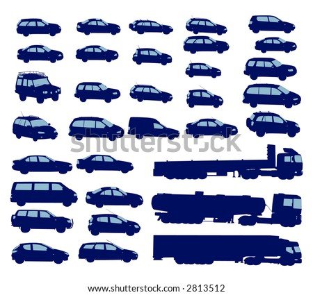 vehicle shapes vector - stock vector