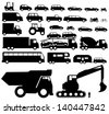 Vehicle silhouette vector - stock vector